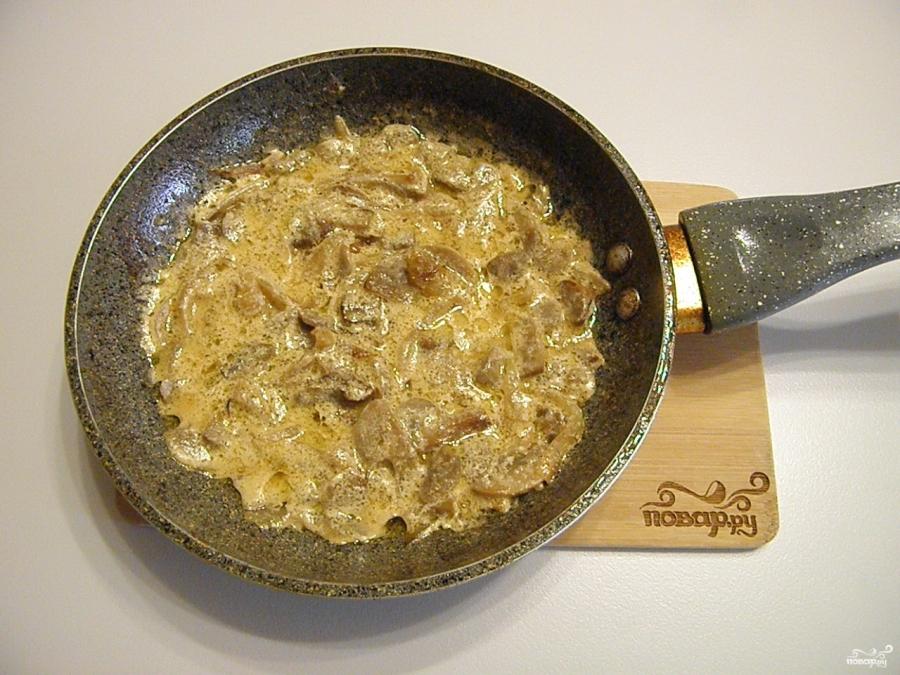 Куриное филе под грибным соусом - фото шаг 6
