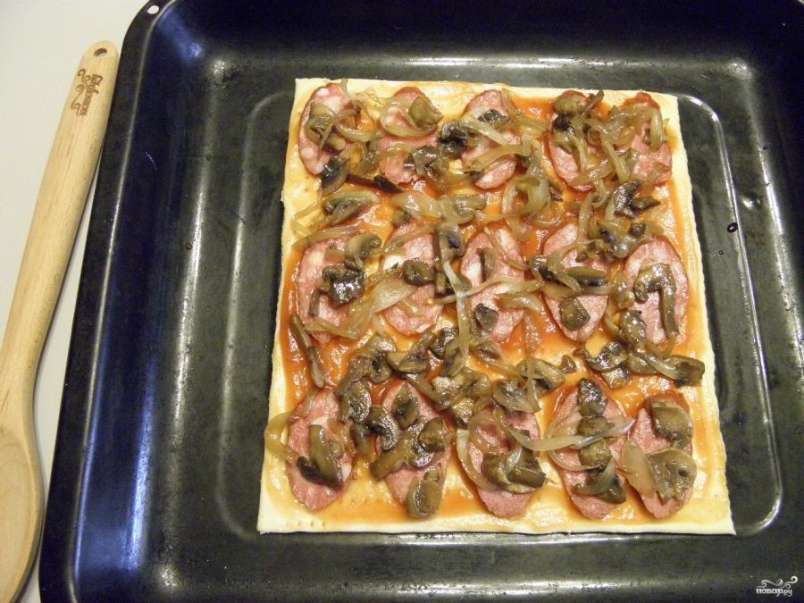пицца на сковороде в духовке рецепт с фото