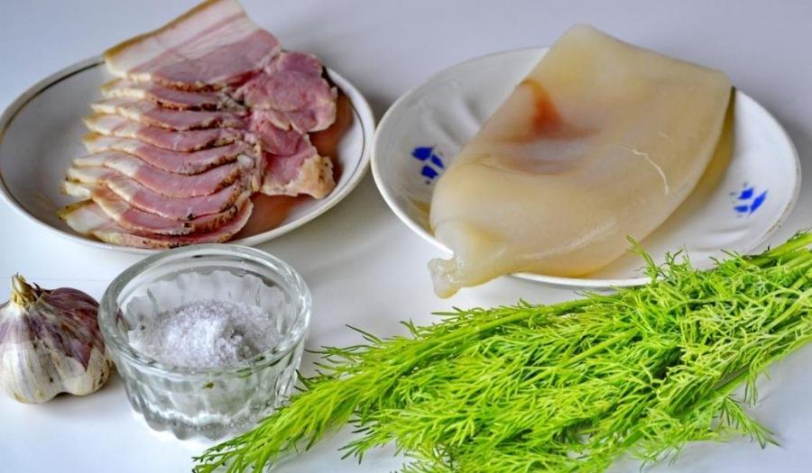 Рецепт Кальмары на сковороде