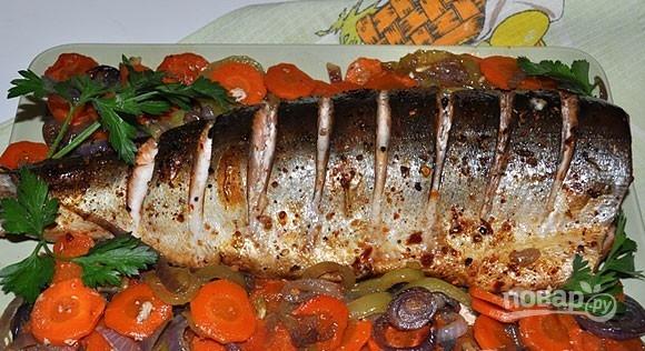 Горбуша целиком с овощами в духовке рецепты