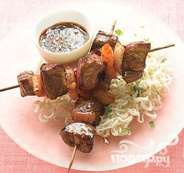 Рецепт Азиатский шашлык из говядины