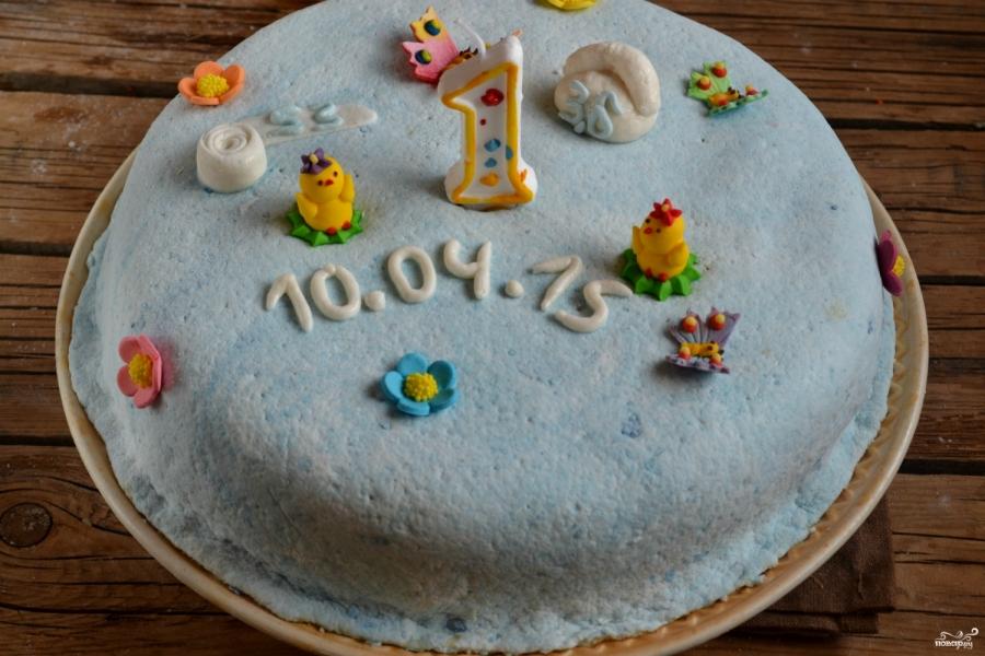Торт на годик мальчику - фото шаг 13