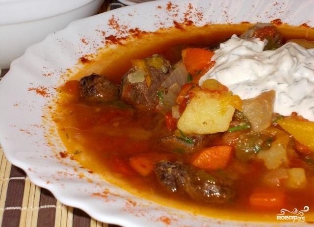 пошаговый рецепт приготовления гуляша из говядины