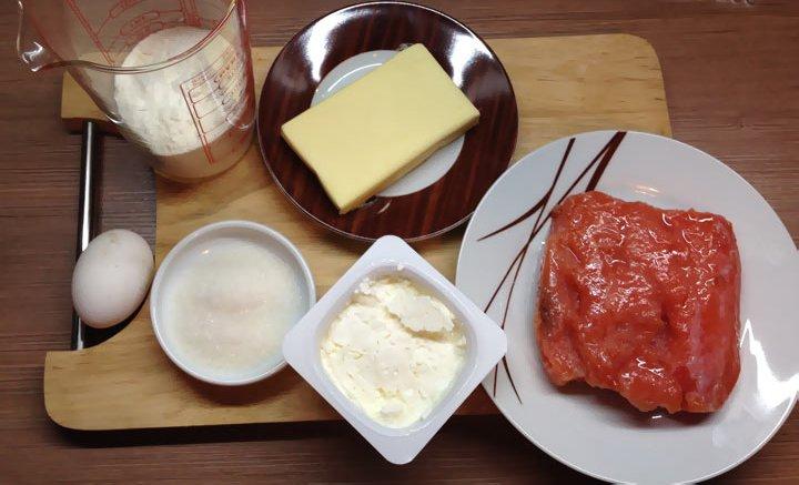 Рецепт Салат в тарталетках с красной рыбой