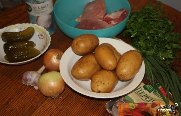 Азу по-татарски со свининой - фото шаг 1