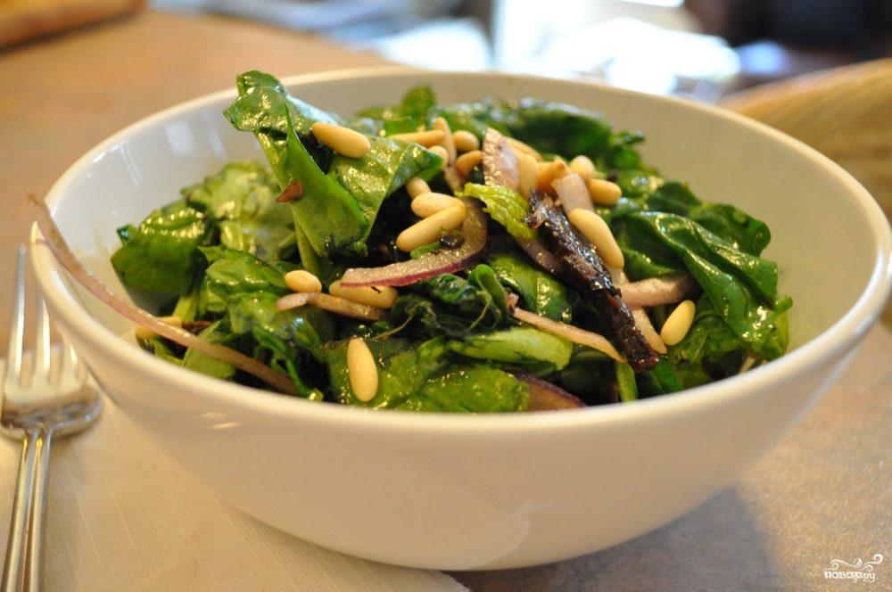 Рецепт Постный салат с грибами