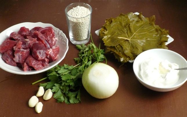 Рецепт Долма в виноградных листьях в мультиварке