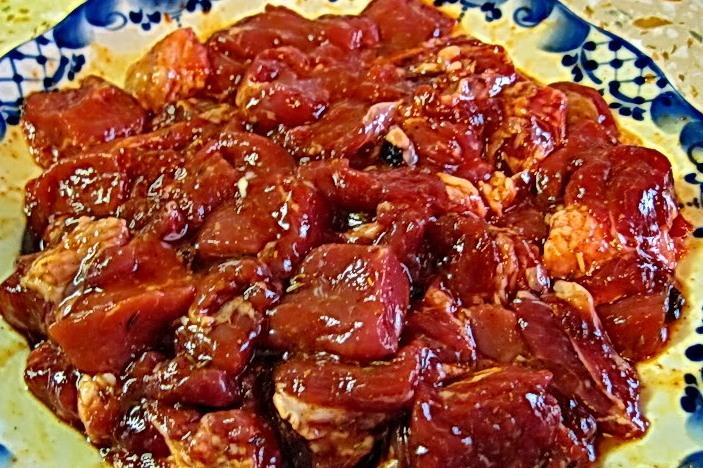 Рецепт Говядина с баклажанами и помидорами
