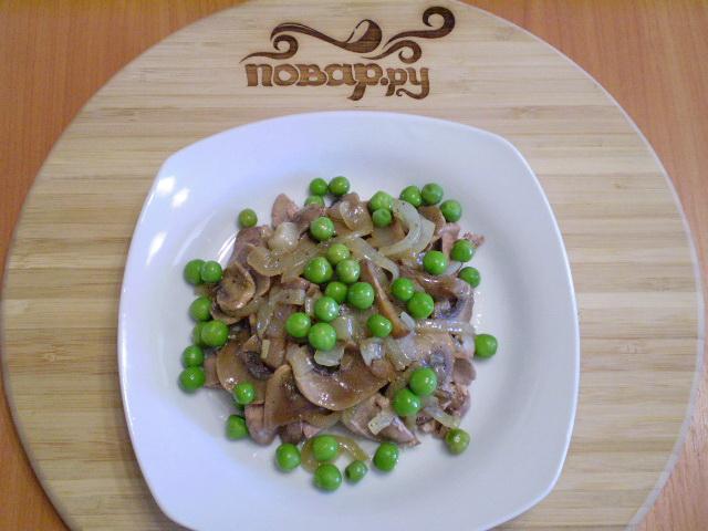 Теплый салат с куриной печенью - фото шаг 6