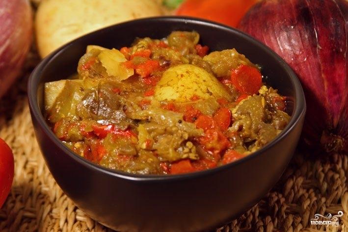 Рецепт Тушеный перец с помидорами