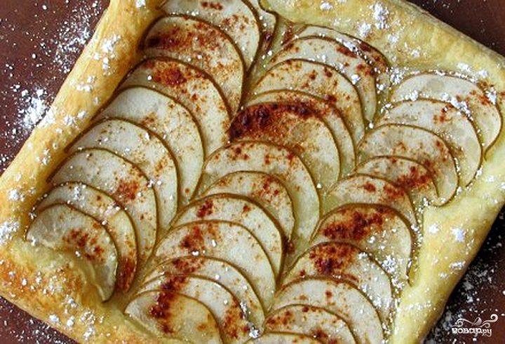 Рецепт Слоеный пирог с грушей