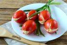 Закуска Тюльпаны из помидоров на 8 Марта