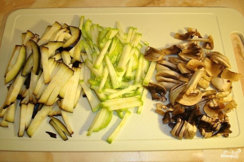 Гречневая лапша с овощами и креветками - фото шаг 3
