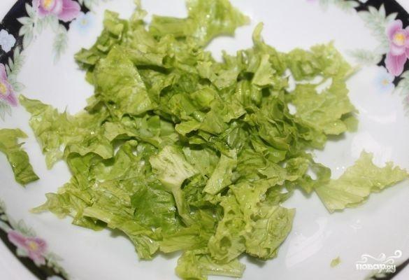 Салат с пророщенной пшеницей - фото шаг 1