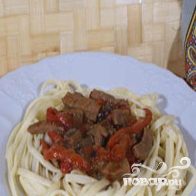 Макароны с говядиной и перцем - фото шаг 5