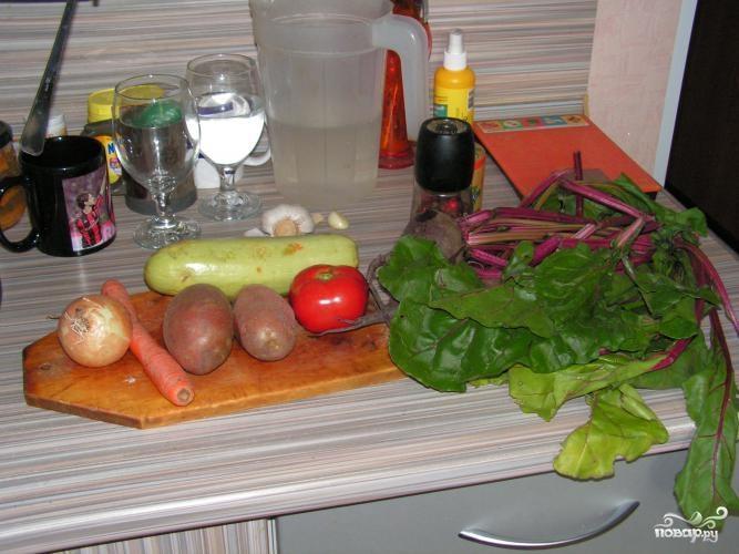 Суп из свекольной ботвы - фото шаг 1