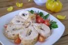 Грудка, запеченная с грибами и сыром