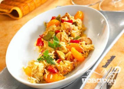 Рецепт Курица в мандаринах