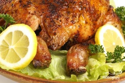 Курица, запеченная в духовке в фольге