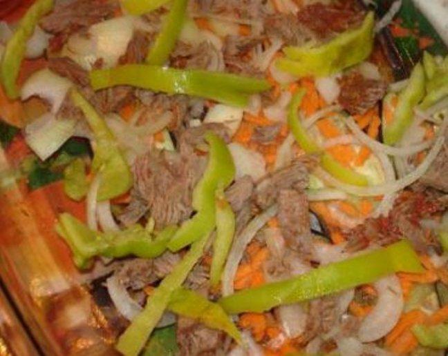 Соте из баклажанов с мясом - фото шаг 2