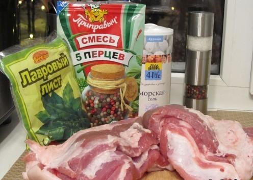 Рецепт Рулет из свиной брюшины вареный
