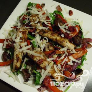 Салат из шпината на гриле - фото шаг 9
