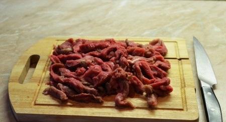 Рецепт Говядина с белыми грибами