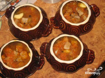 картошка с мясом и грибами и сметаной в духовке рецепт с фото