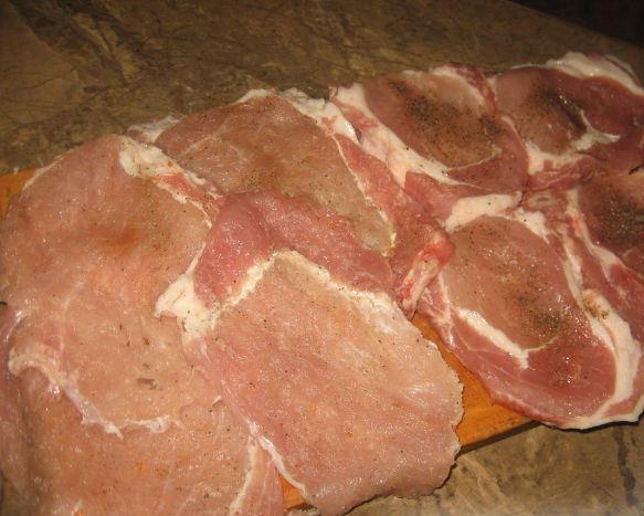 Рецепт Крученики из свинины