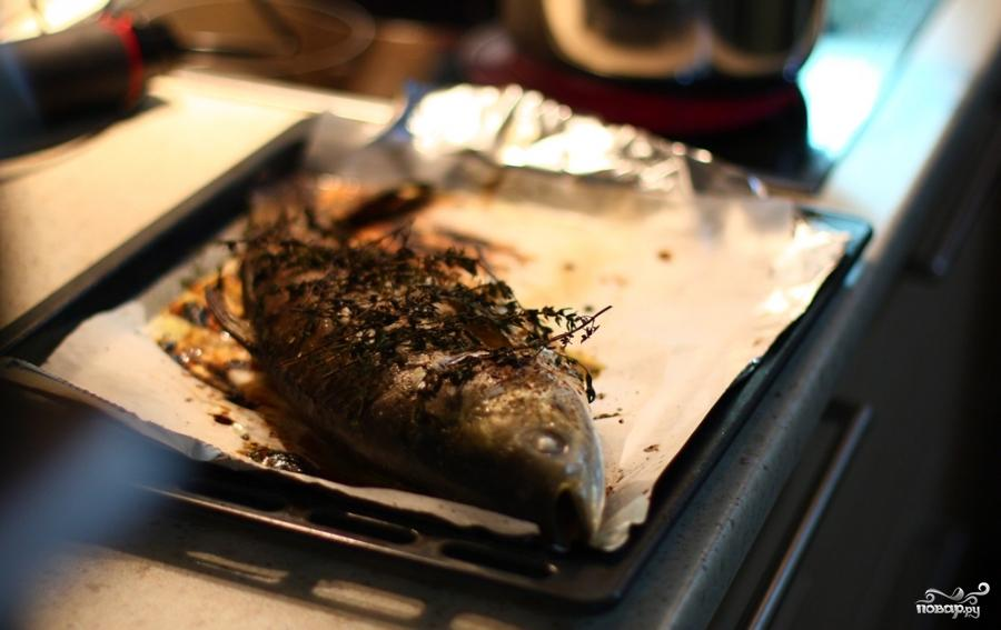 Рыба с тимьяном и луком - фото шаг 9