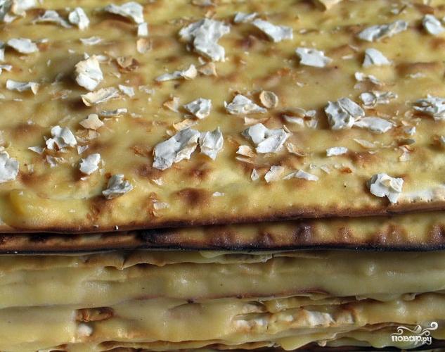 Торт из мацы без выпечки - фото шаг 4
