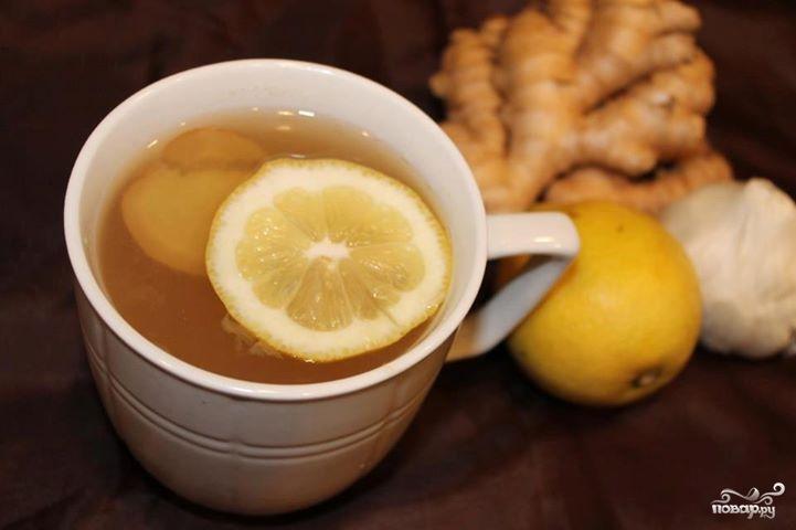 Рецепт Имбирный чай с чесноком