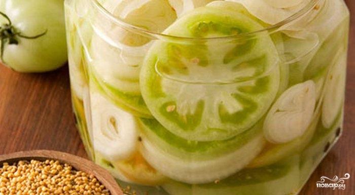 Рецепт Консервированные зеленые помидоры