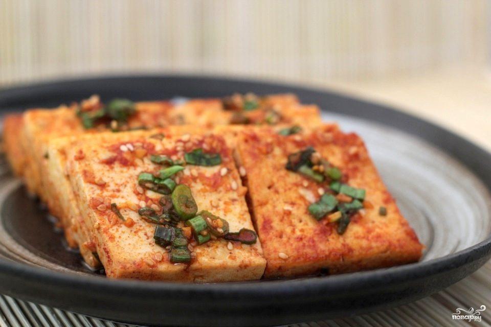 Припущенный тофу