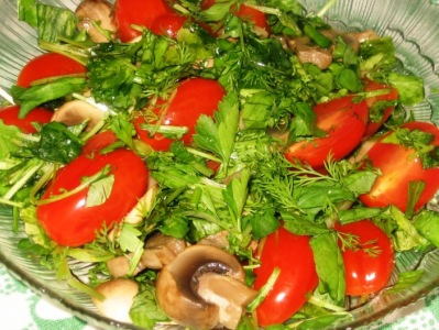 Салат с грибами отварными - фото шаг 6