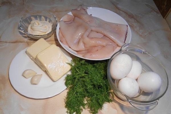 Рецепт Кальмары с плавленым сыром