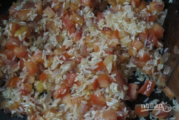 Кальмары с рисом - фото шаг 5