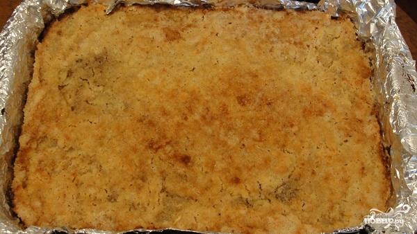 Яблочный пирог с манкой - фото шаг 10