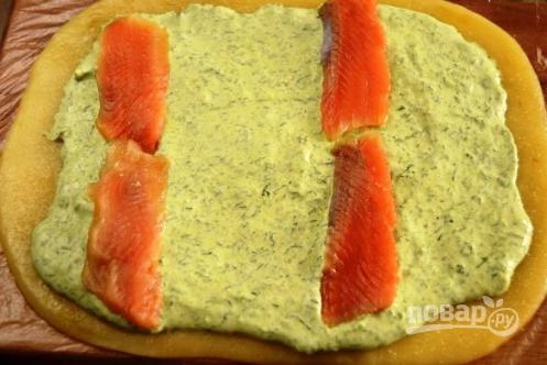 Рулет из сыра с семгой пошаговый рецепт с