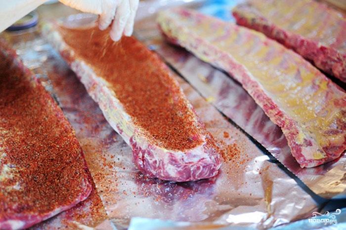 Жареные свиные ребрышки в духовке - фото шаг 4