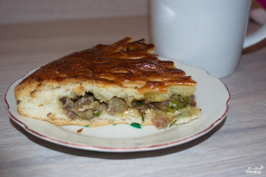 Простой пирог с мясом - фото шаг 8