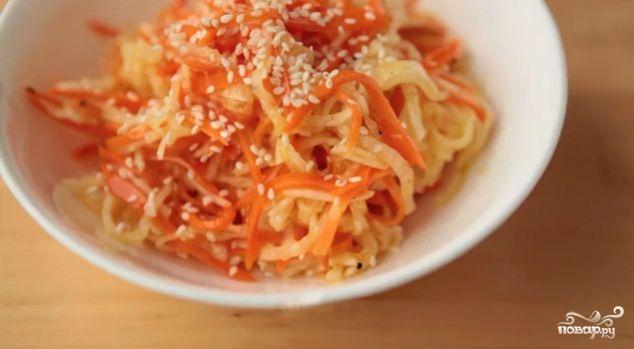 Рецепт Салат из редиски дайкон