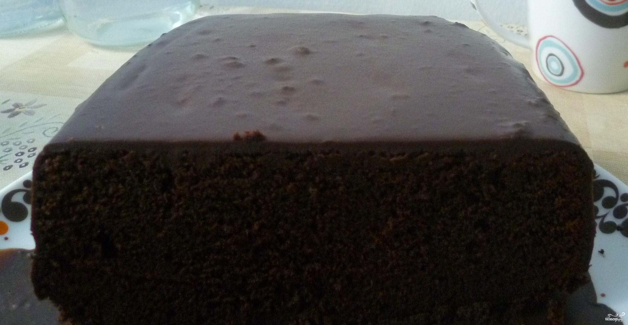 Рецепт Шоколадный торт в шоколадной глазури