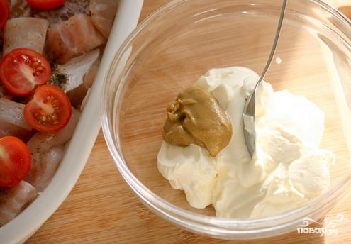 Треска, запеченная в духовке с сыром - фото шаг 5