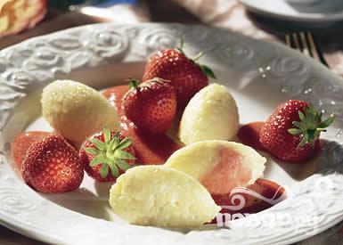 Рецепт Десерт из риса и клубники