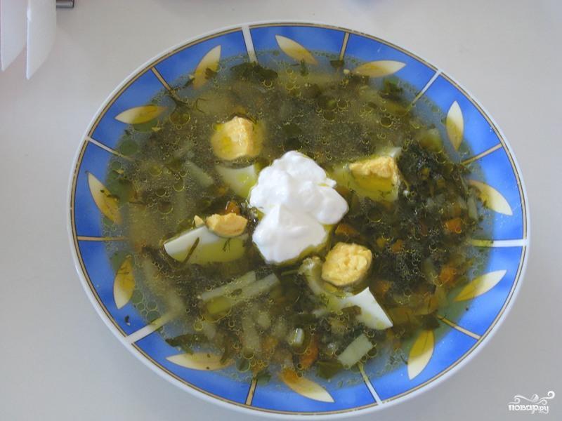 Рецепт Щи из щавеля по-деревенски