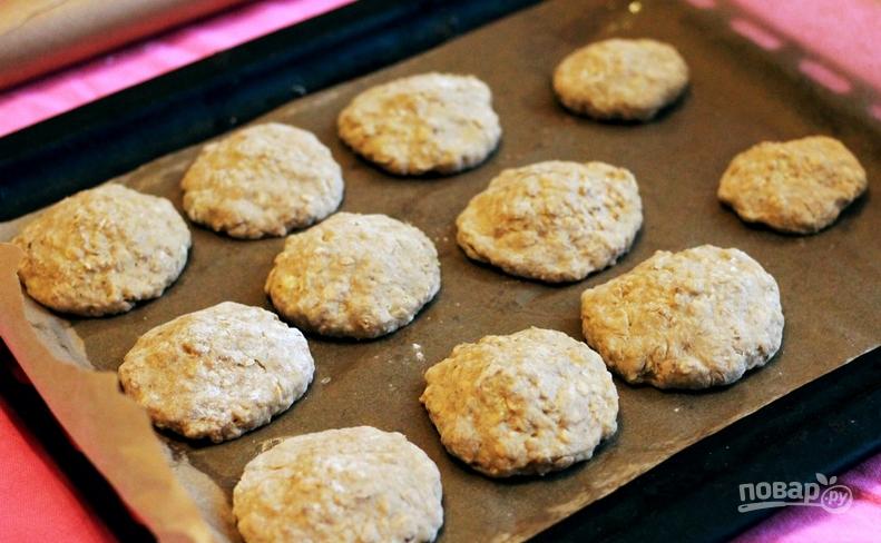 Овсяное печенье на кефире с бананом рецепт