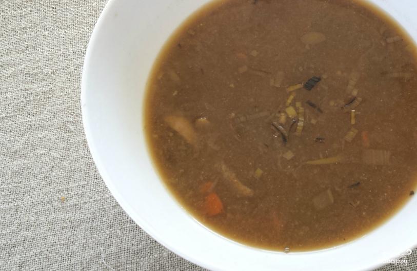 Постный грибной суп из замороженных грибов - фото шаг 4