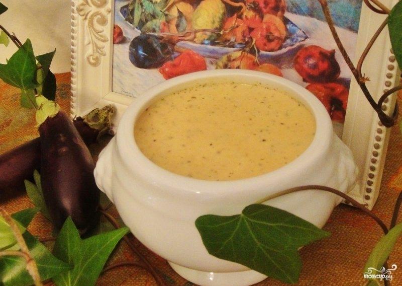 Суп-пюре из баклажана