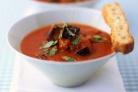 Суп с помидорами и баклажанами